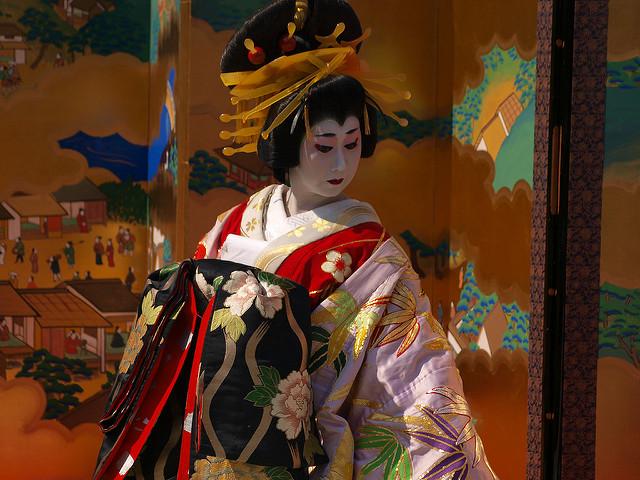 Oiran (Cortesana japonesa) - Foto de: Doronko ENLACES