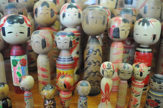 Las muñecas Kokeshi