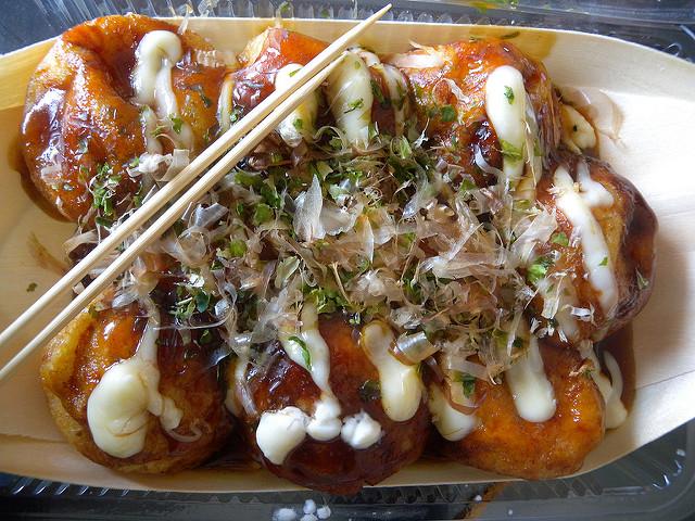 Takoyaki, bolitas de pulpo