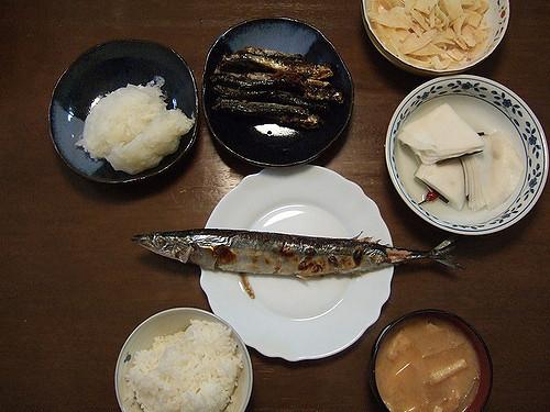 Sanma, pescado de otoño en Japón